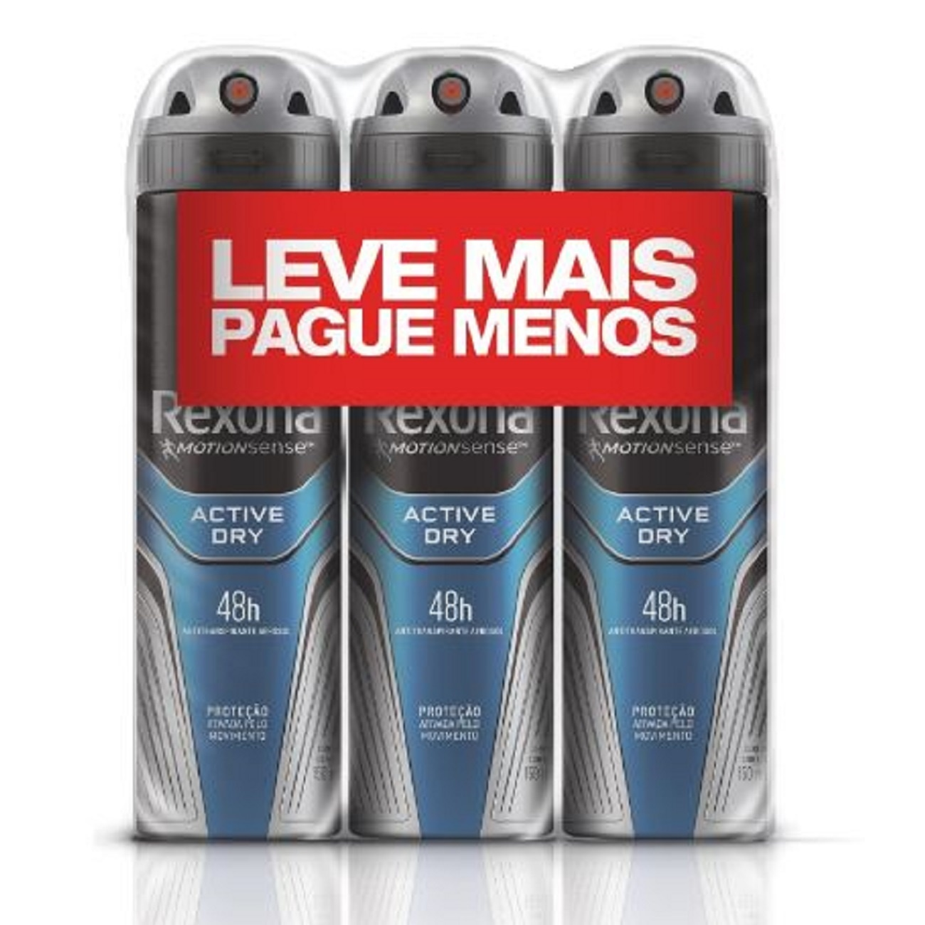 Oferta 3 Desodorante Antitranspirante Aerosol Rexona Active Dry 150ml