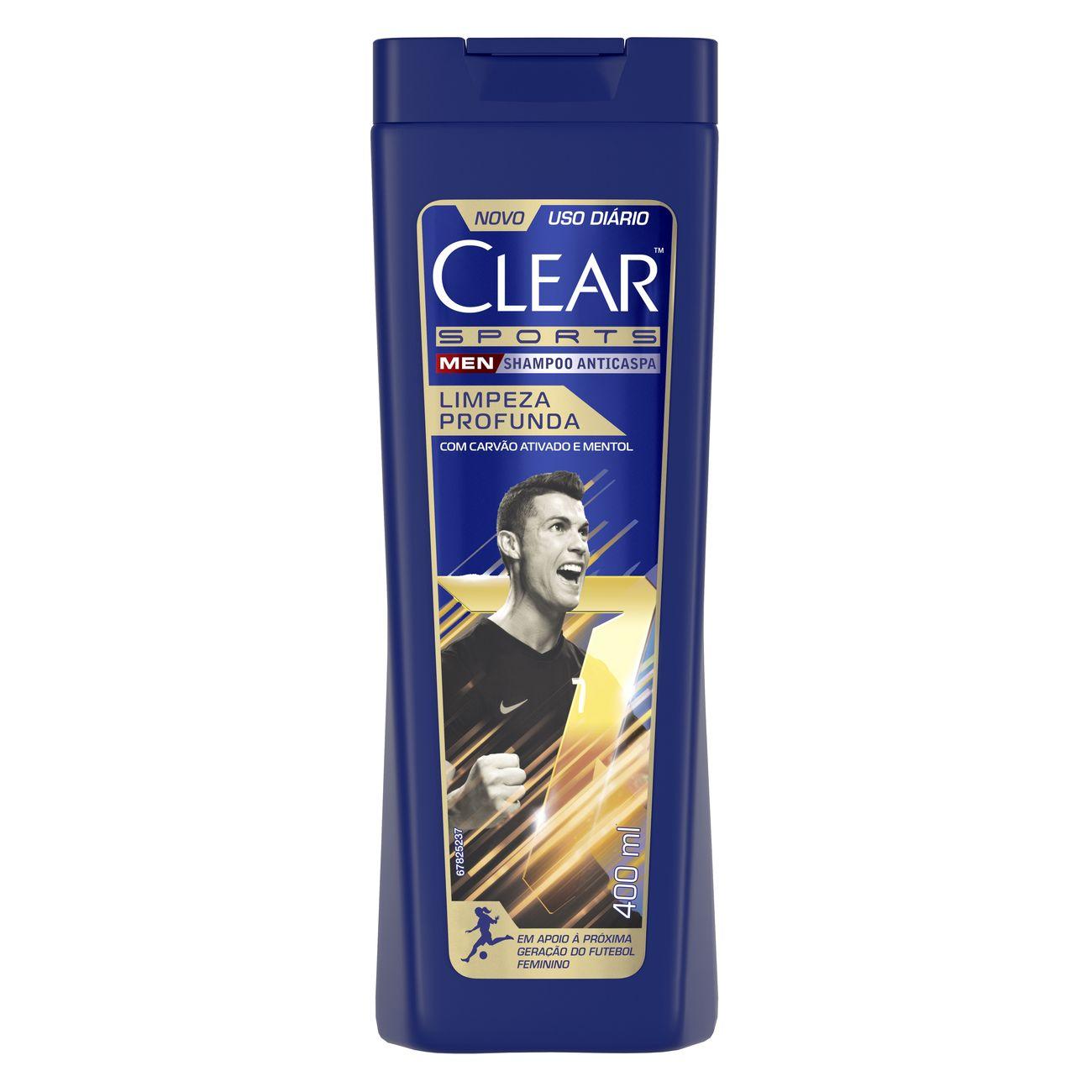 Shampoo Anticaspa Clear Sports Men Limpeza Profunda 400 ML