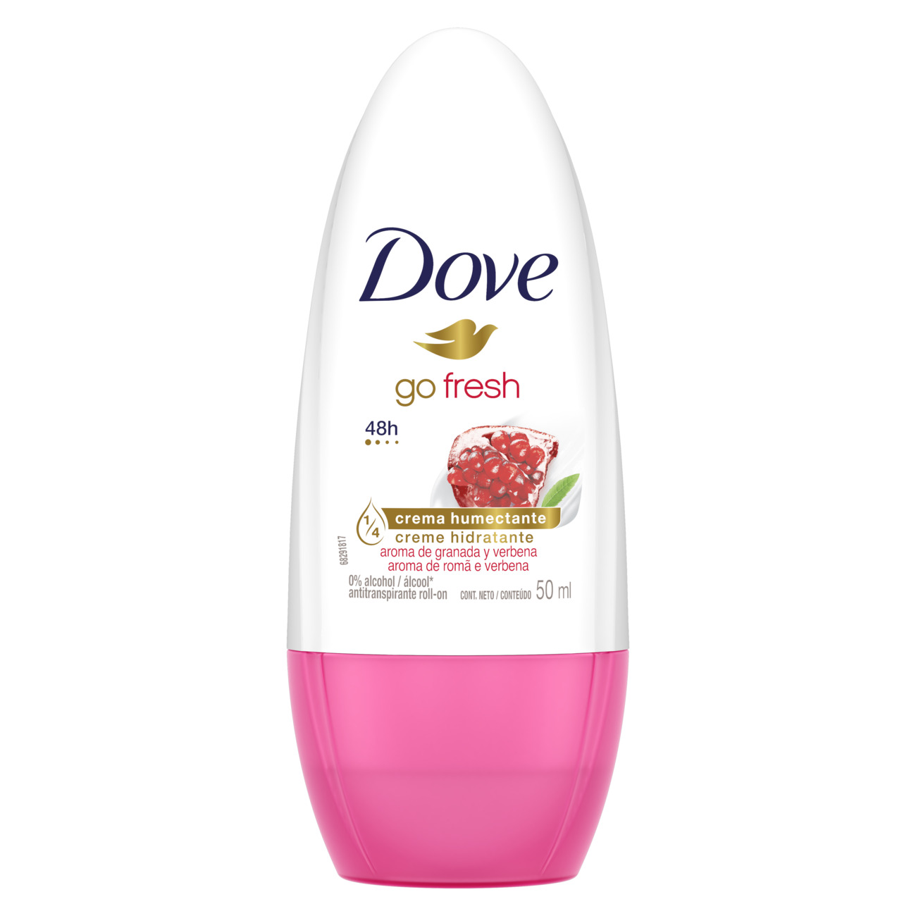 Desodorante Roll On Dove Feminino Go Fresh Romã e Verbena 50mL