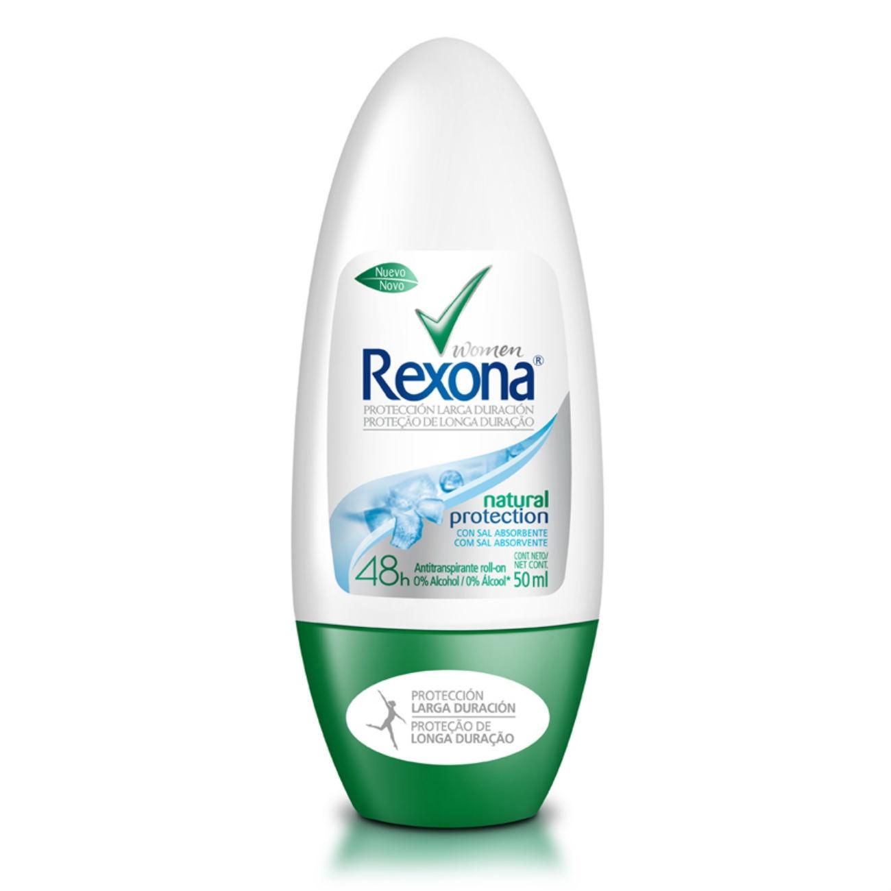 Antitranspirante Roll On Rexona Natural Protection 50ML