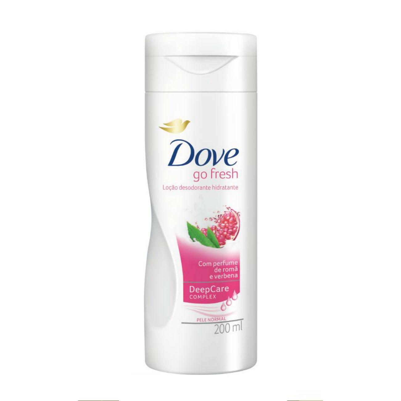 Loção Hidratante Dove Go Fresh Perfume de romã e verbena 200ml
