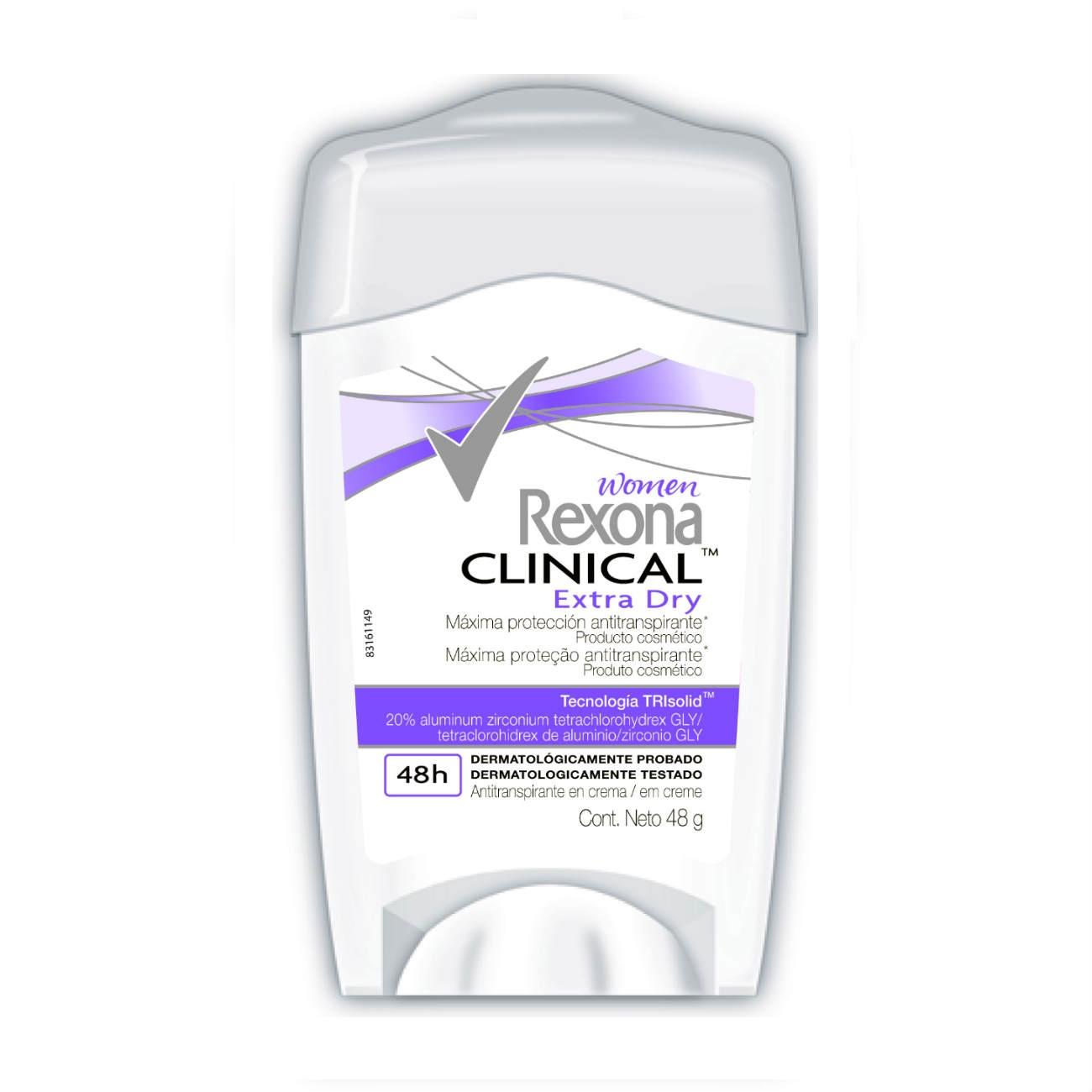Desodorante Antitranspirante Rexona Fem Clinical EXTRA DRY 48g
