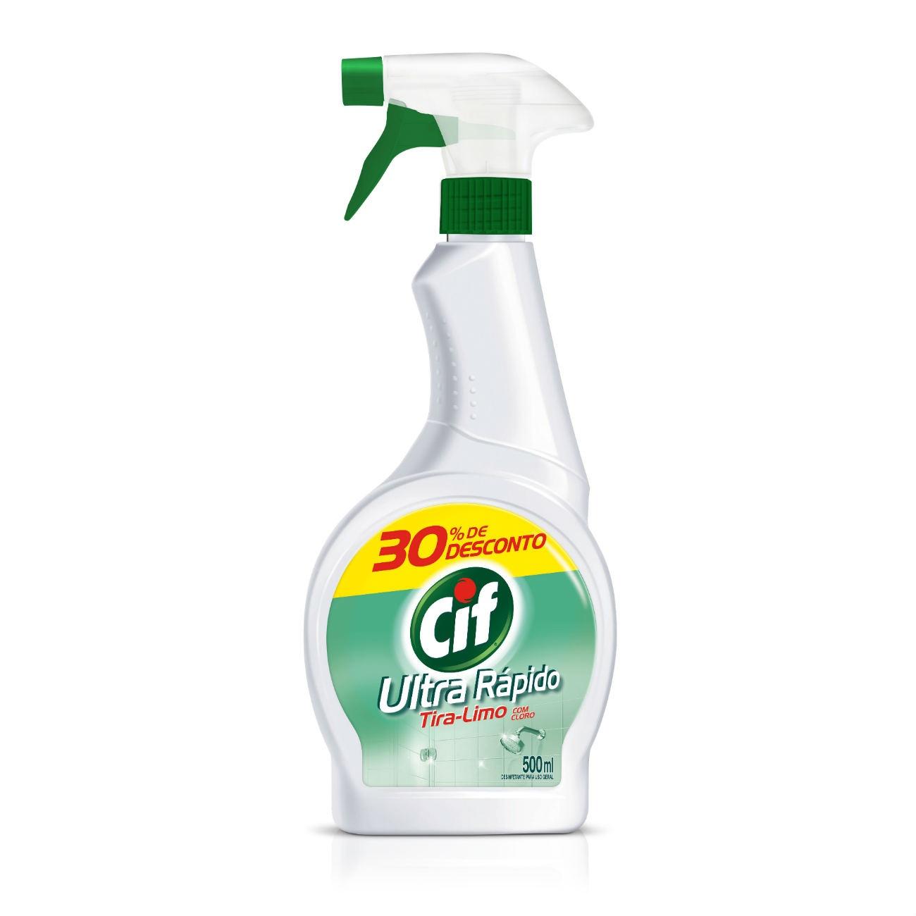 Oferta Limpador CIF Ultra Rápido Tira-Limo Com Cloro Spray 500ml