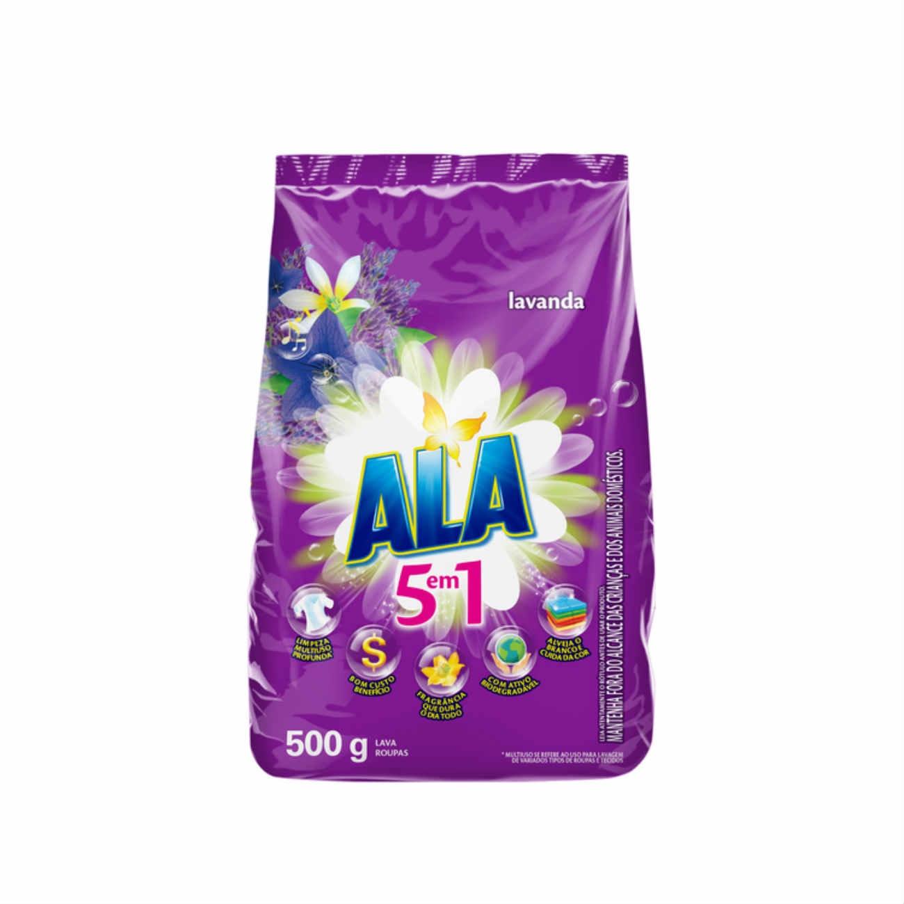 Detergente em Pó ALA Flor de Cerejeira e Lavanda 500g