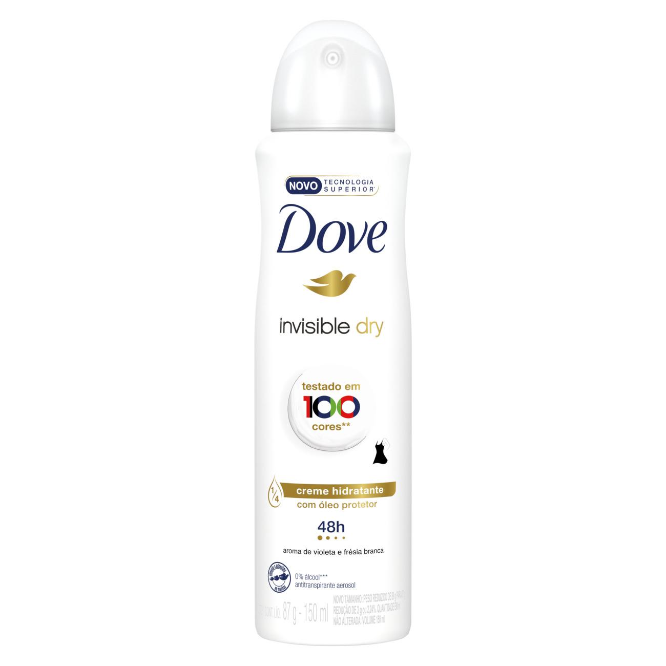 Desodorante Antitranspirante Dove Aerosol Invisible Dry 150mL