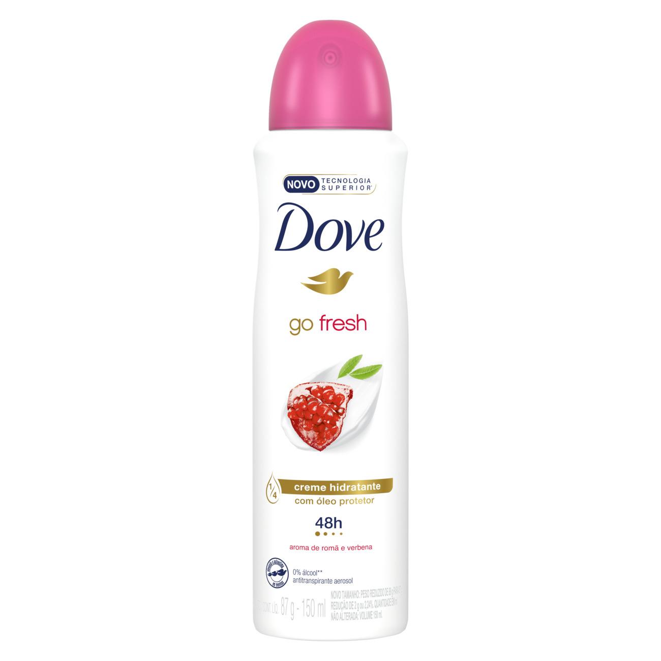 Desodorante Antitranspirante Dove Aerosol Go Fresh Romã e Verbena 150mL