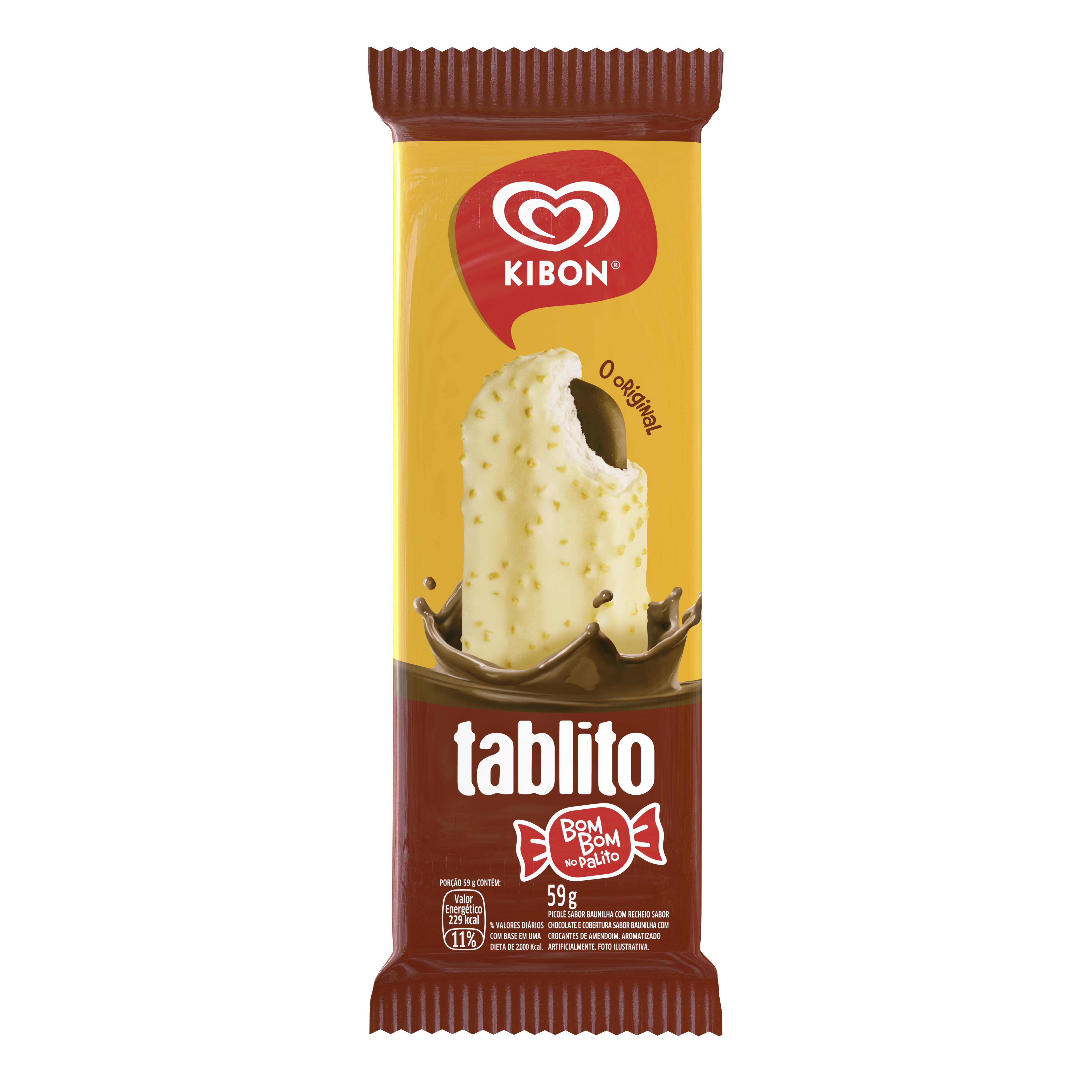 Sorvete Kibon Palito Tablito 72ML | Caixa com 24