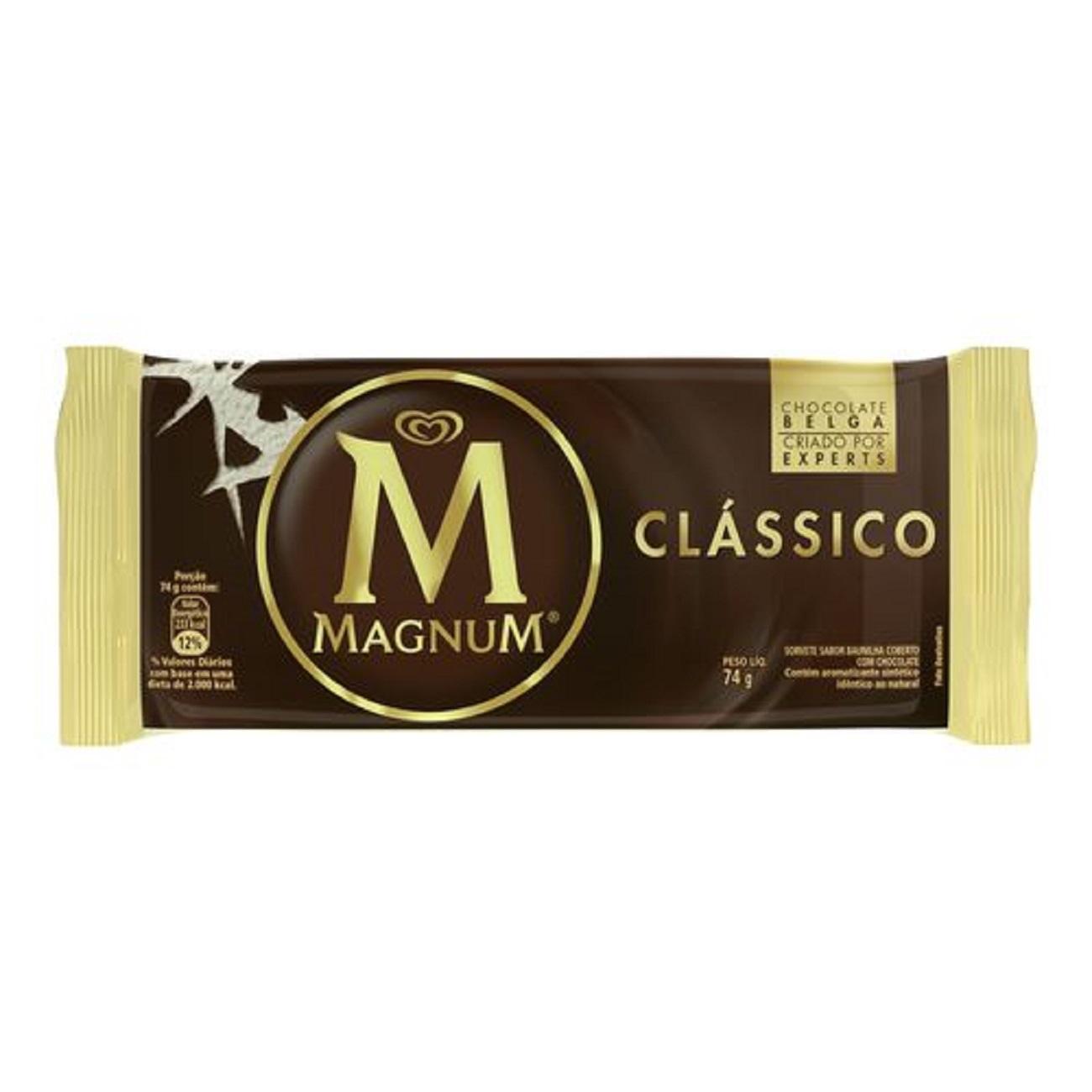 Sorvete Kibon Magnum Picolé Clássico 100ML | Caixa com 18