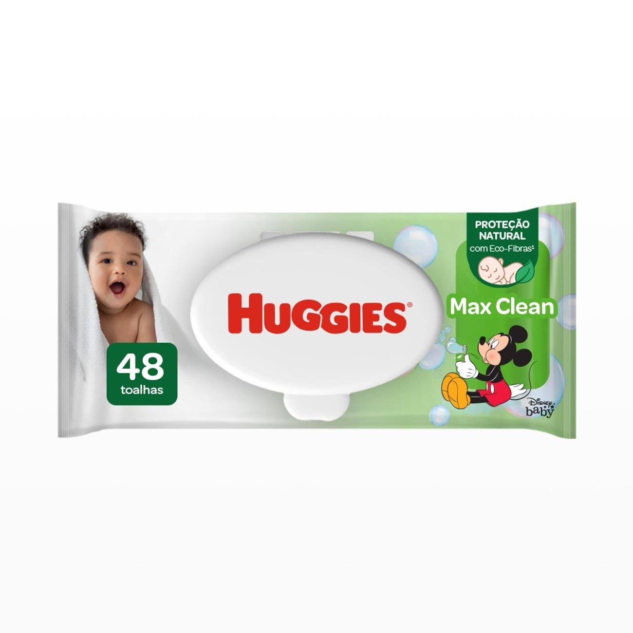 Lenços Umedecidos Huggies Max Clean 48un