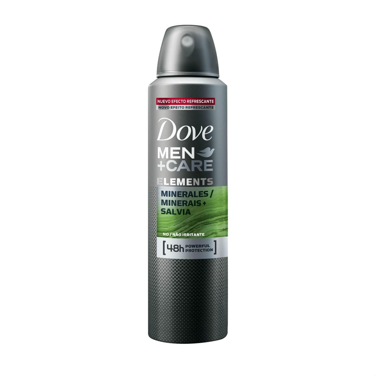 Desodorante Antitranspirante Dove Men Aerosol Mineral e Sálvia 89g