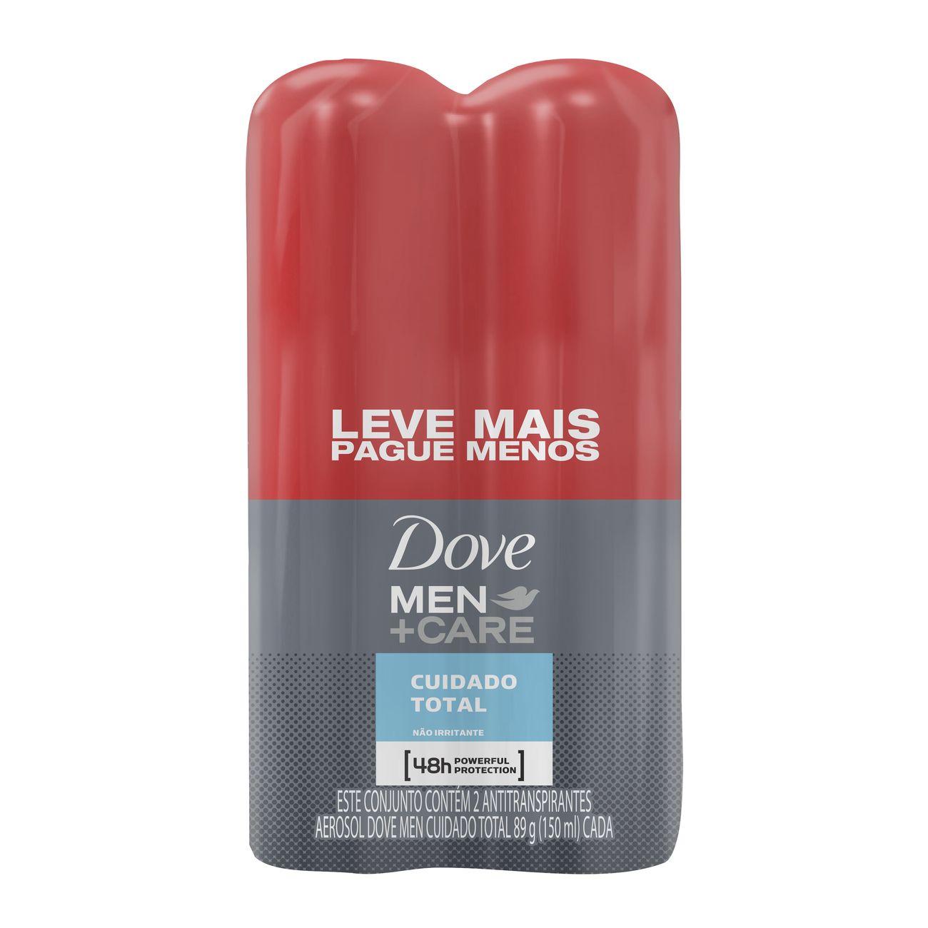 Oferta 2 Desodorante Antitranspirante Aerosol Dove Men Cuidado Total 50% Na Segunda Unidade 150mL