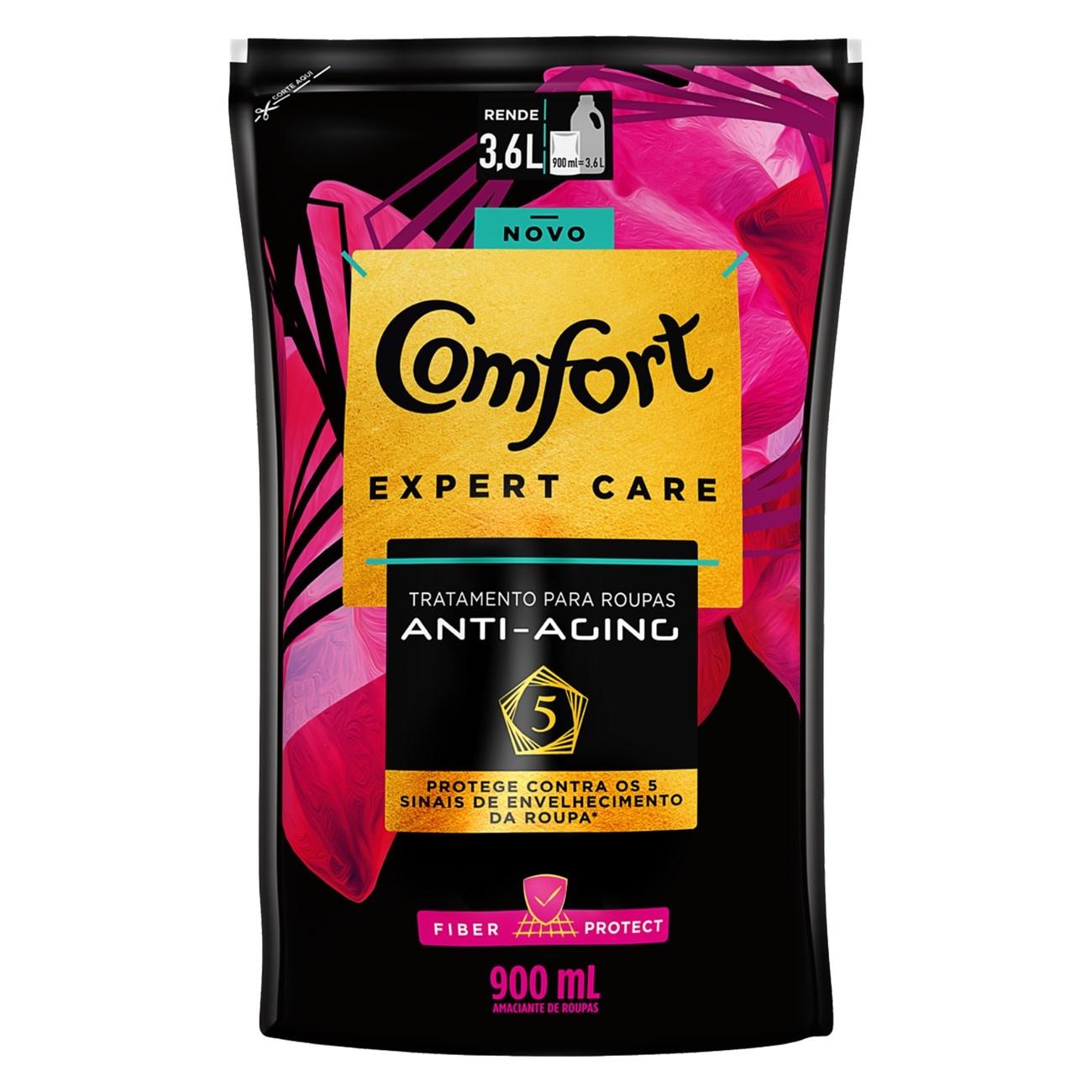 Refil Amaciante Concentrado Comfort Glamour 900ml