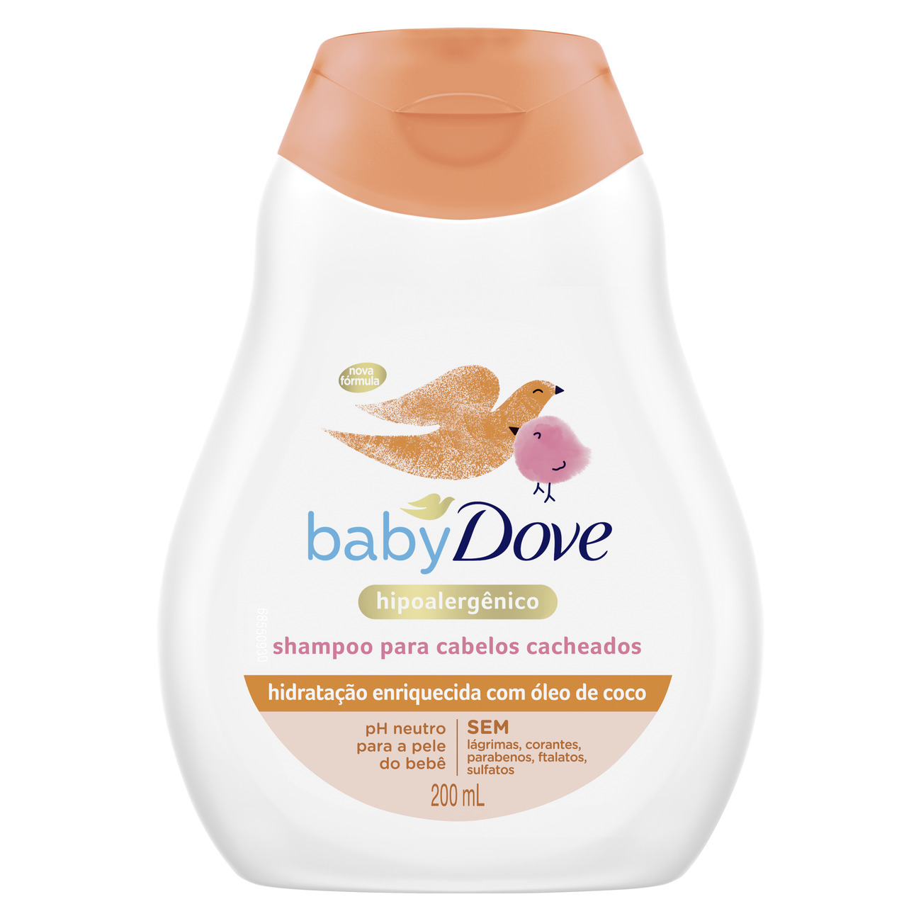 Shampoo Baby Dove para Cabelos Cacheados 200mL