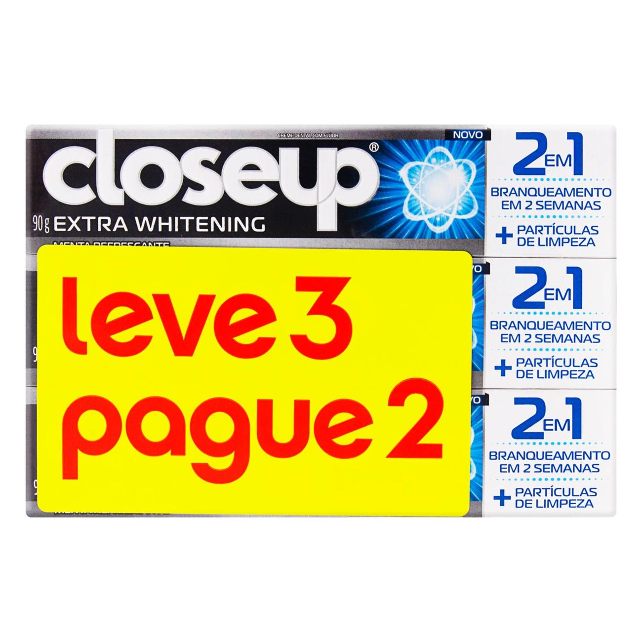 Oferta Creme Dental Closeup Extra Whitening Leve 3 Pague 2 90g
