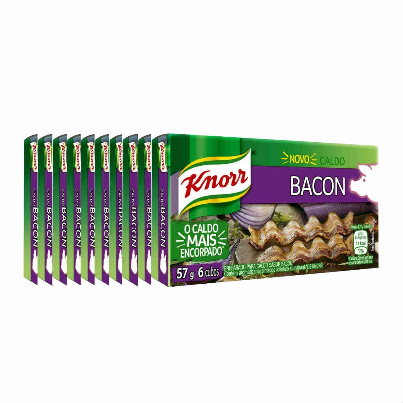 Display com 10 Caldos Knorr Bacon 57g