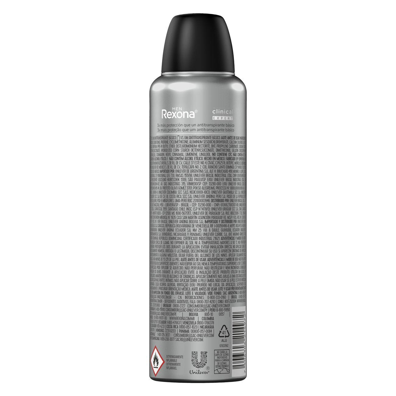 Desodorante Aerosol Rexona Clinical Masculino Clean 91g