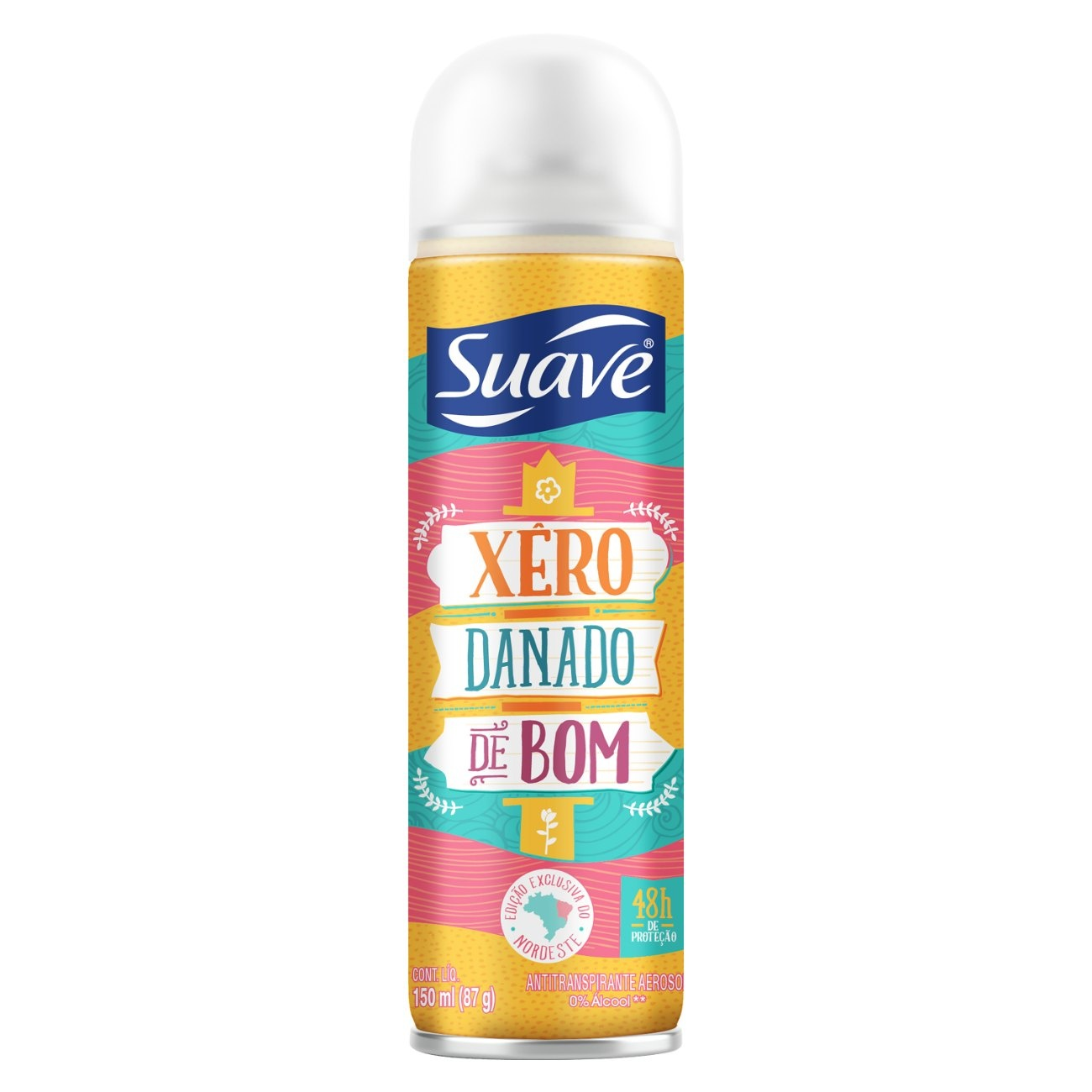 Desodorante Aerossol Antitranspirante Suave Xêro Danado de Bom 150ml