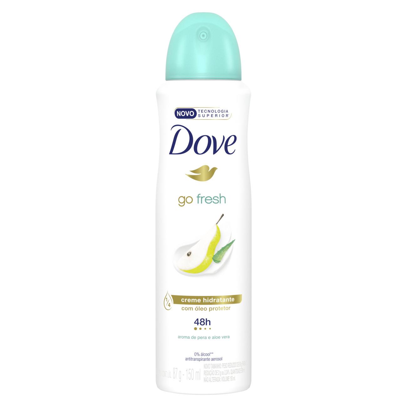 Desodorante Aerosol Dove Go Fresh Pera e Aloe Vera Dove 150mL