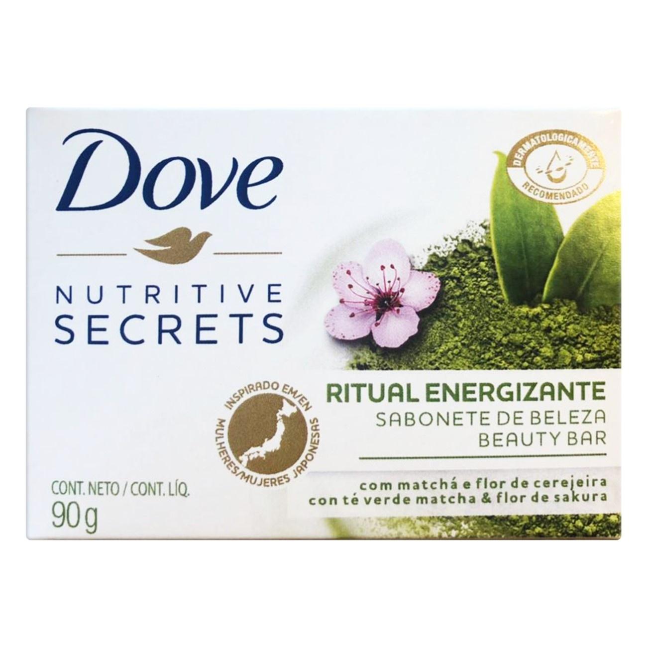 Sabonete em Barra Dove Ritual Energizante Matchá e Flor de Cerejeira Nutritive Secrets 90g