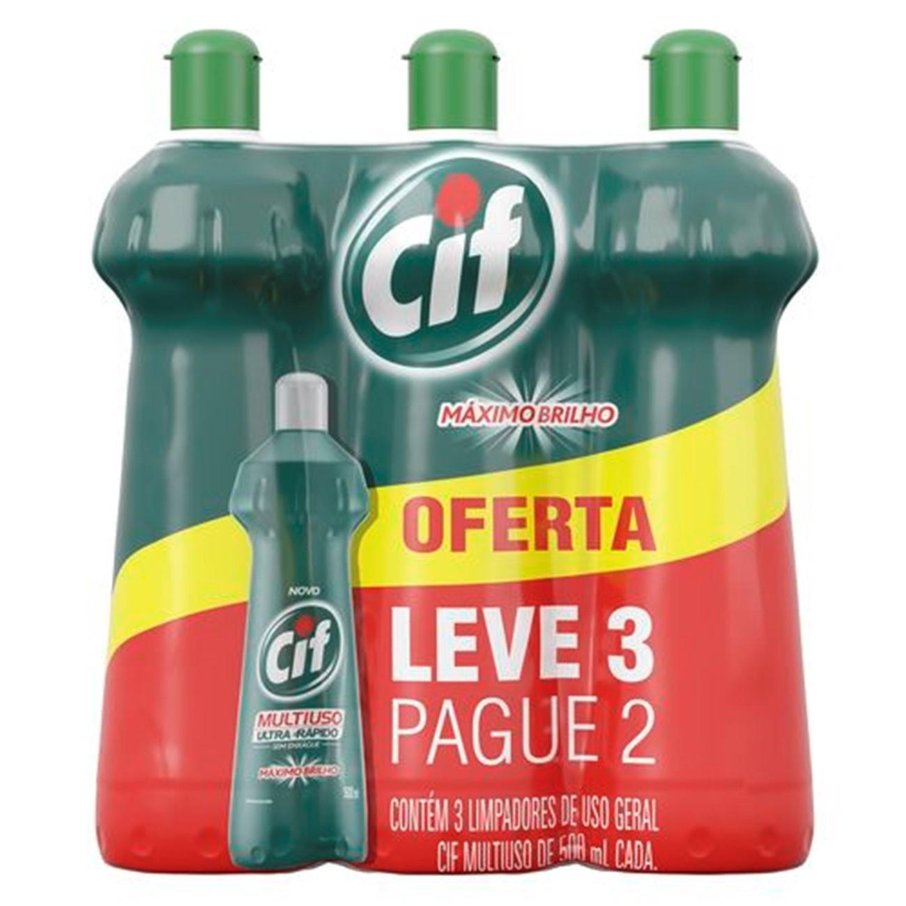 OFERTA CIF Limp Multiuso Original Leve 3 Pague 2