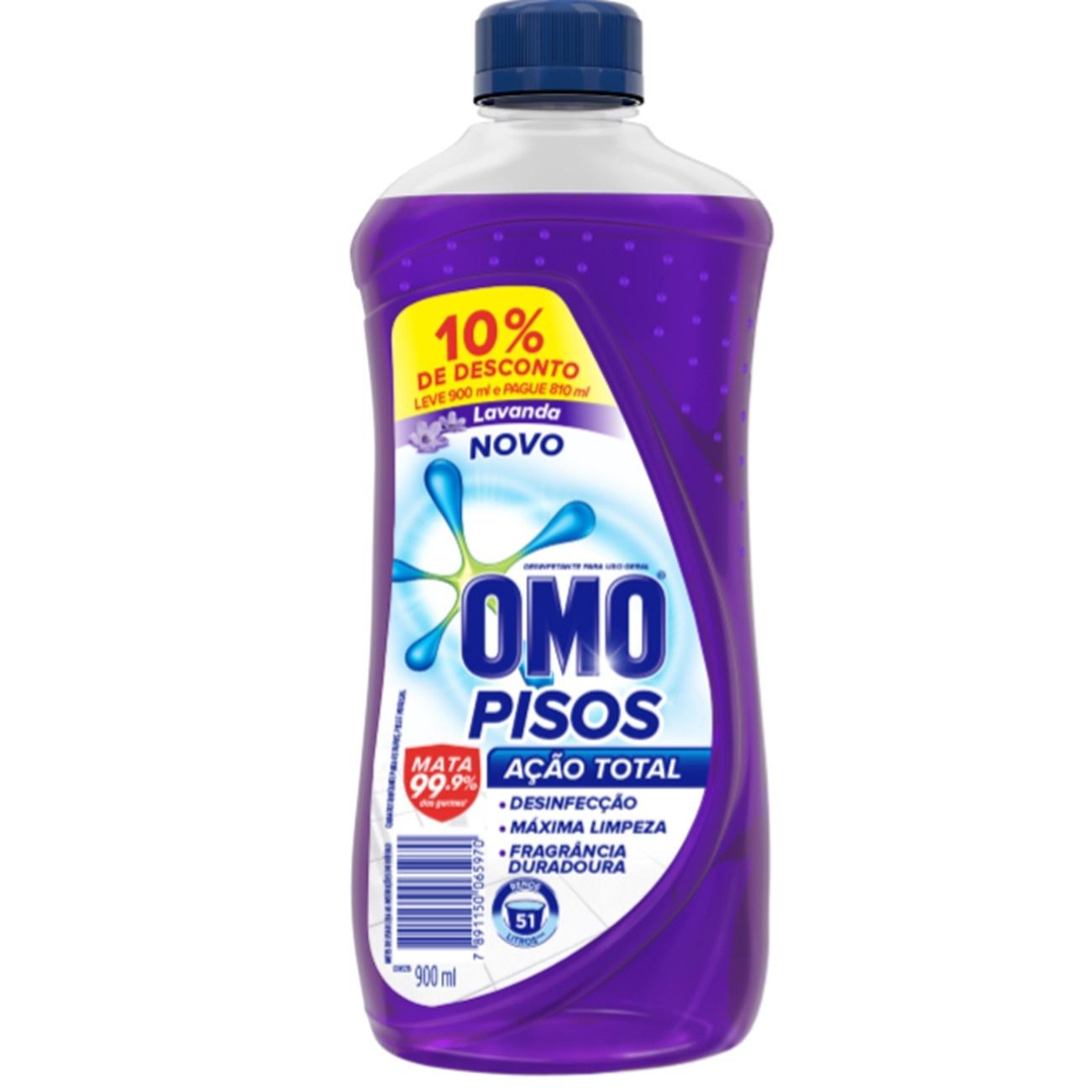 Oferta Limpador de Piso Desinfetante Omo Lavanda 900ml