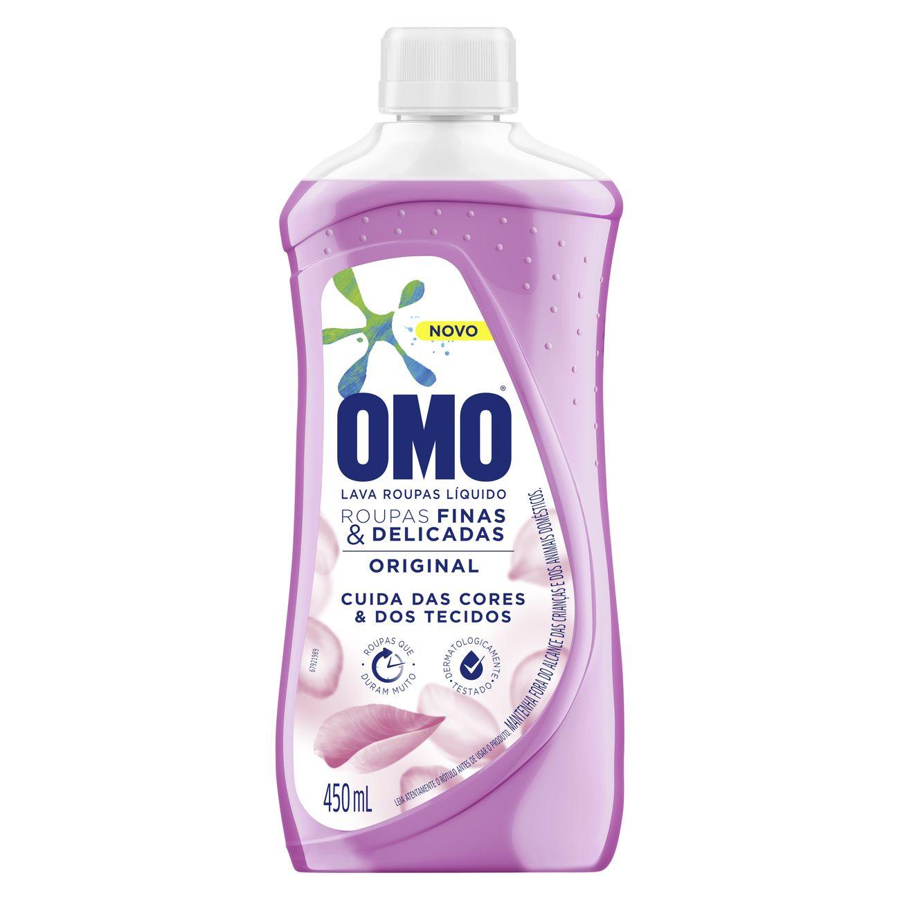 Sabão Liquido Omo Original Roupas Finas e Delicadas 450ml