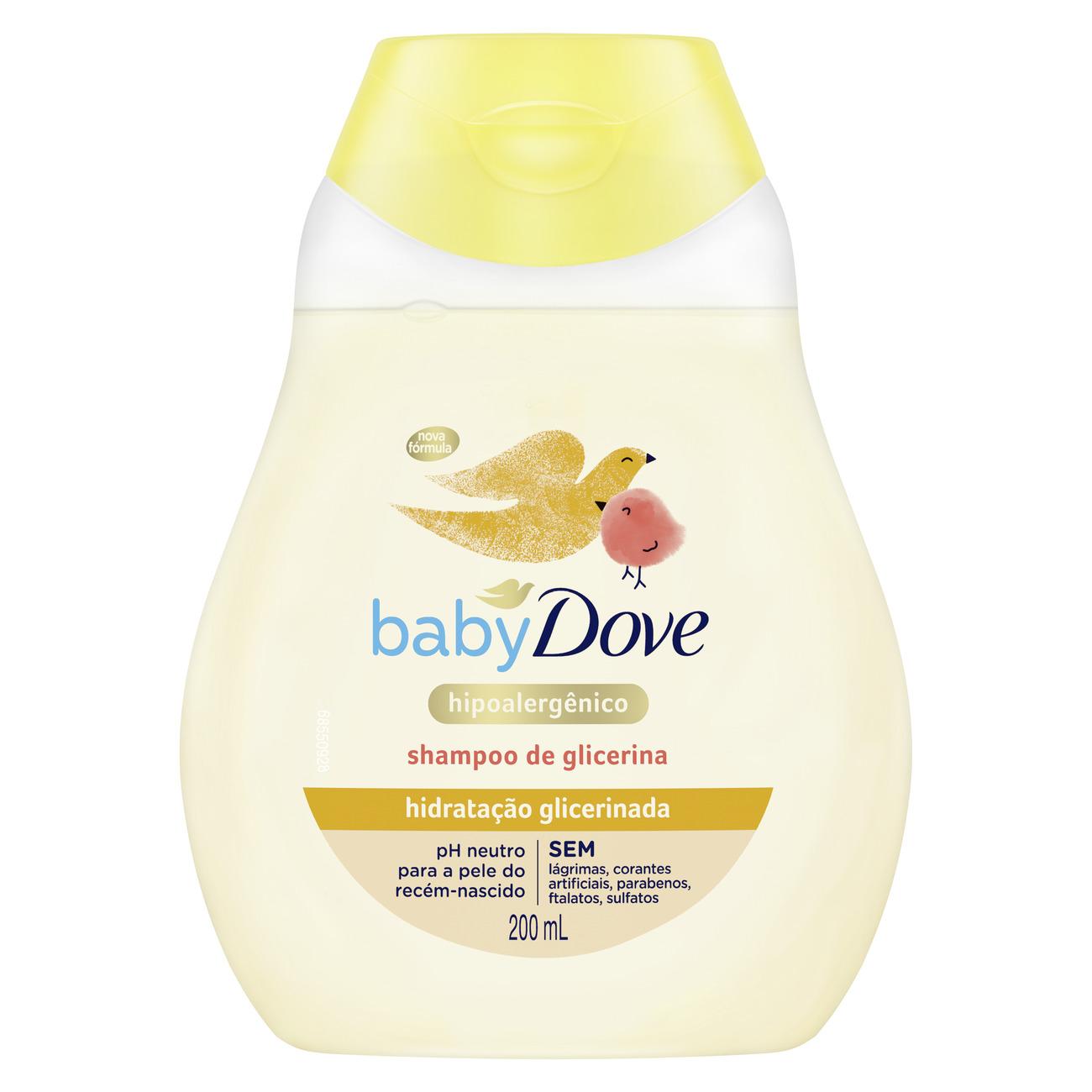 Shampoo de Glicerina Baby Dove Hidratação Glicerinada 200mL