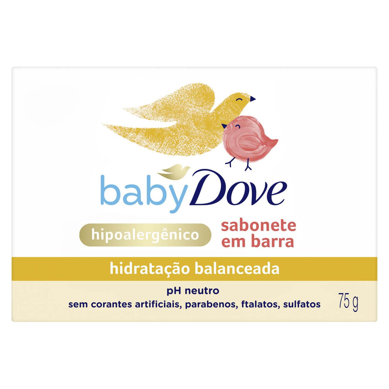 Sabonete em Barra Baby Dove Hidratação Balanceada 75g
