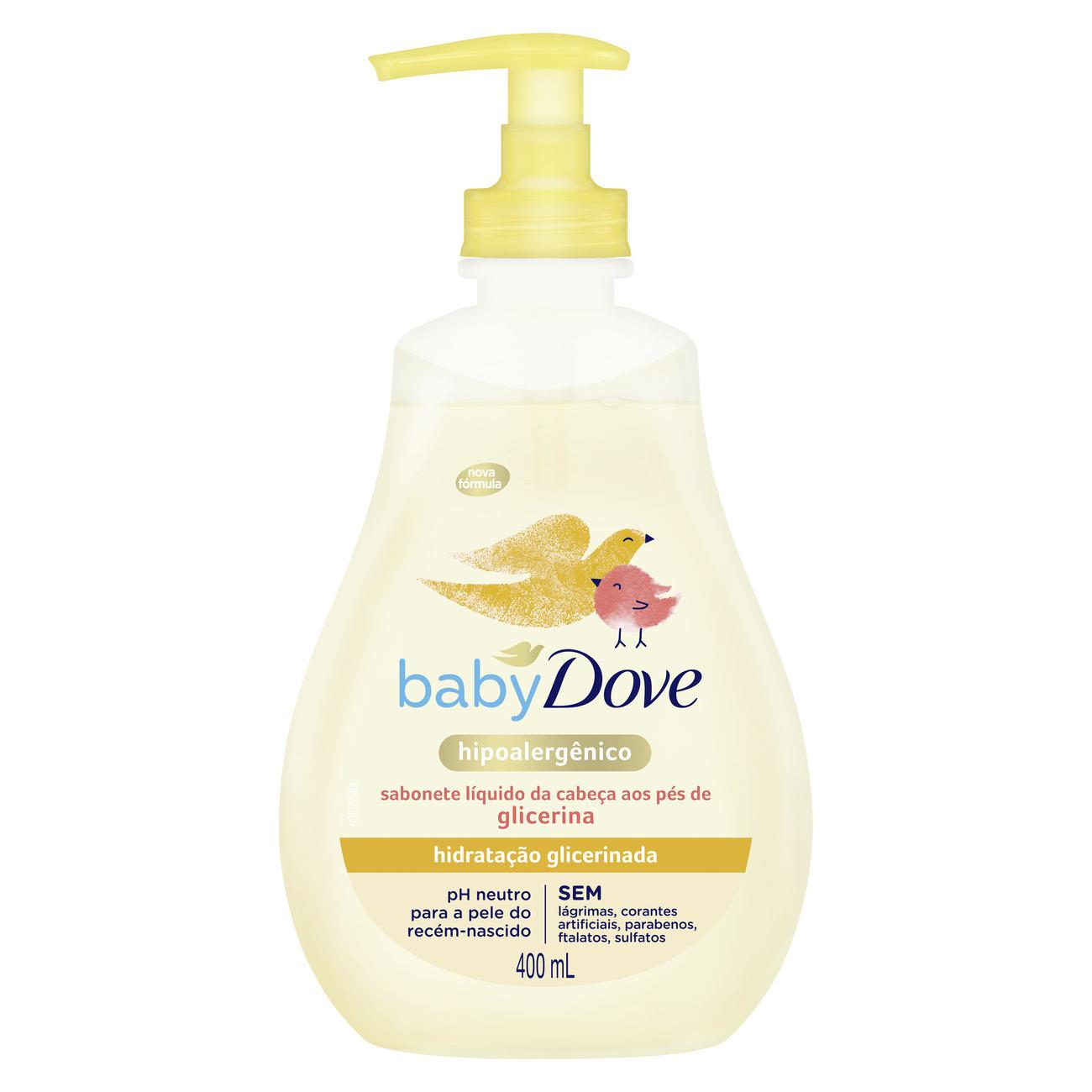 Sabonete Líquido da Cabeça aos Pés de Glicerina Baby Dove Hidratação Glicerinada 400mL