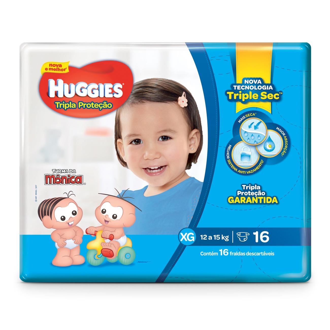 Fralda Huggies Tripla Proteção Jumbinho XG 16un