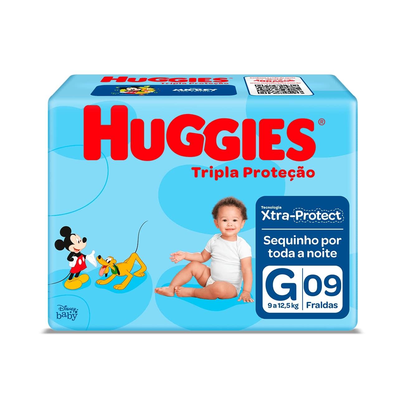 Fralda Huggies Tripla Proteção G 9un
