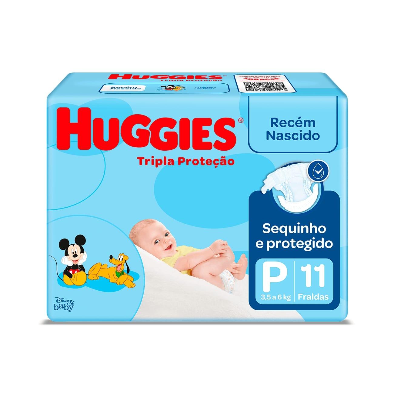 Fralda Huggies Tripla Proteção P 11un