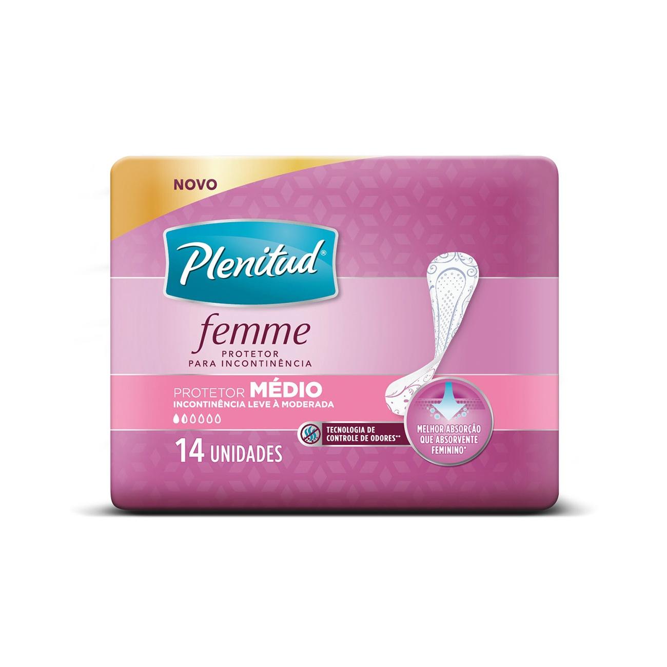 Protetor Diário Plenitud Femme Médio 14un