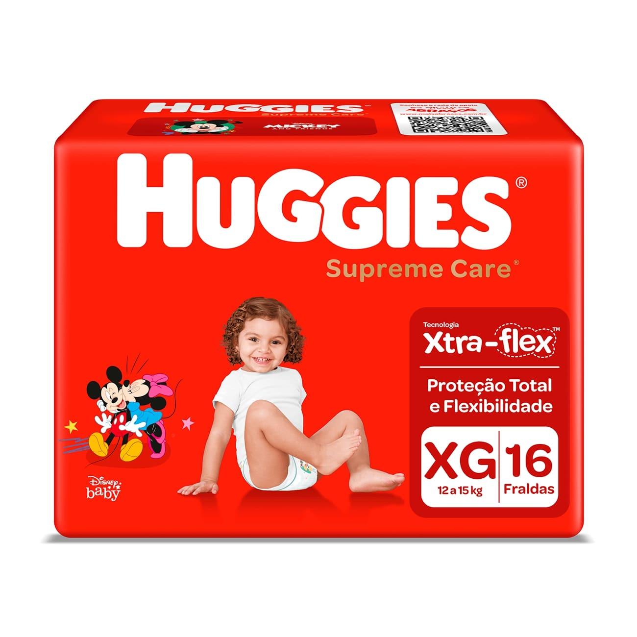 Fralda Huggies Supreme Care Jumbo XG 16un