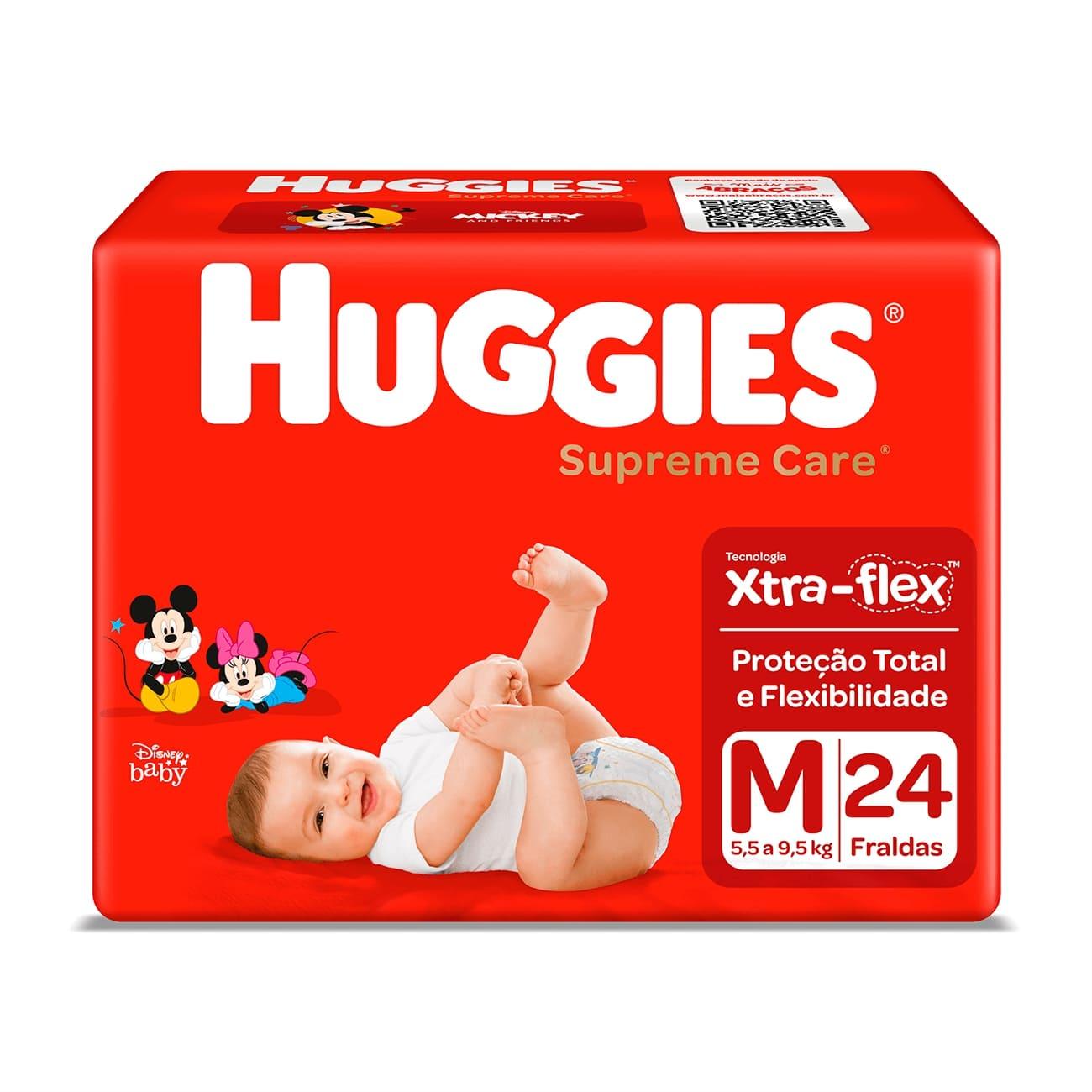 Fralda Huggies Supreme Care Jumbo M 24un