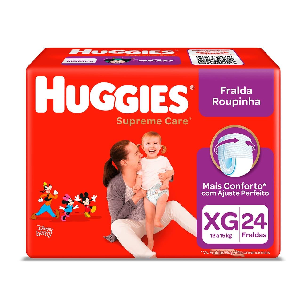 Fralda Huggies Supreme Roupinha Mega XG 24un