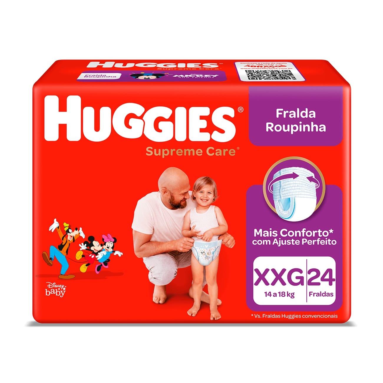 Fralda Huggies Supreme Roupinha Mega XXG 24un