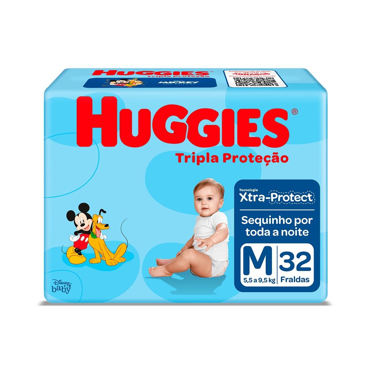 Fralda Huggies Tripla Proteção Jumbo M 32un