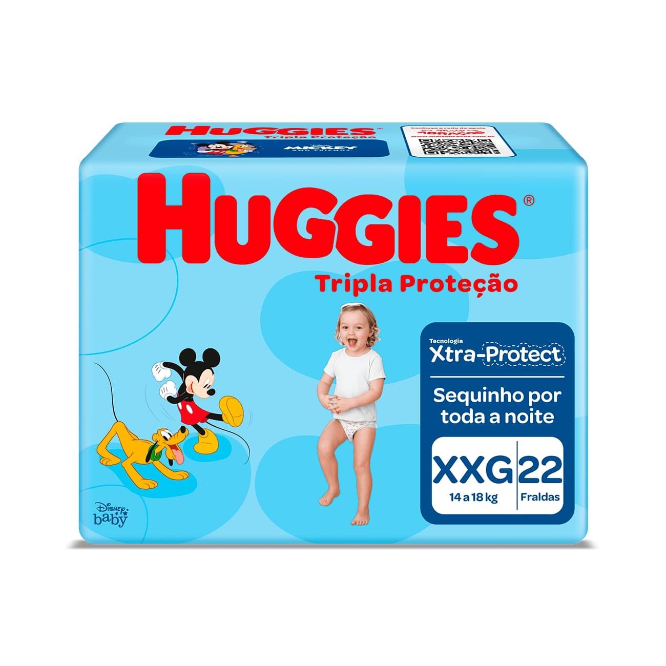 Fralda Huggies Tripla Proteção Jumbo XXG 22un