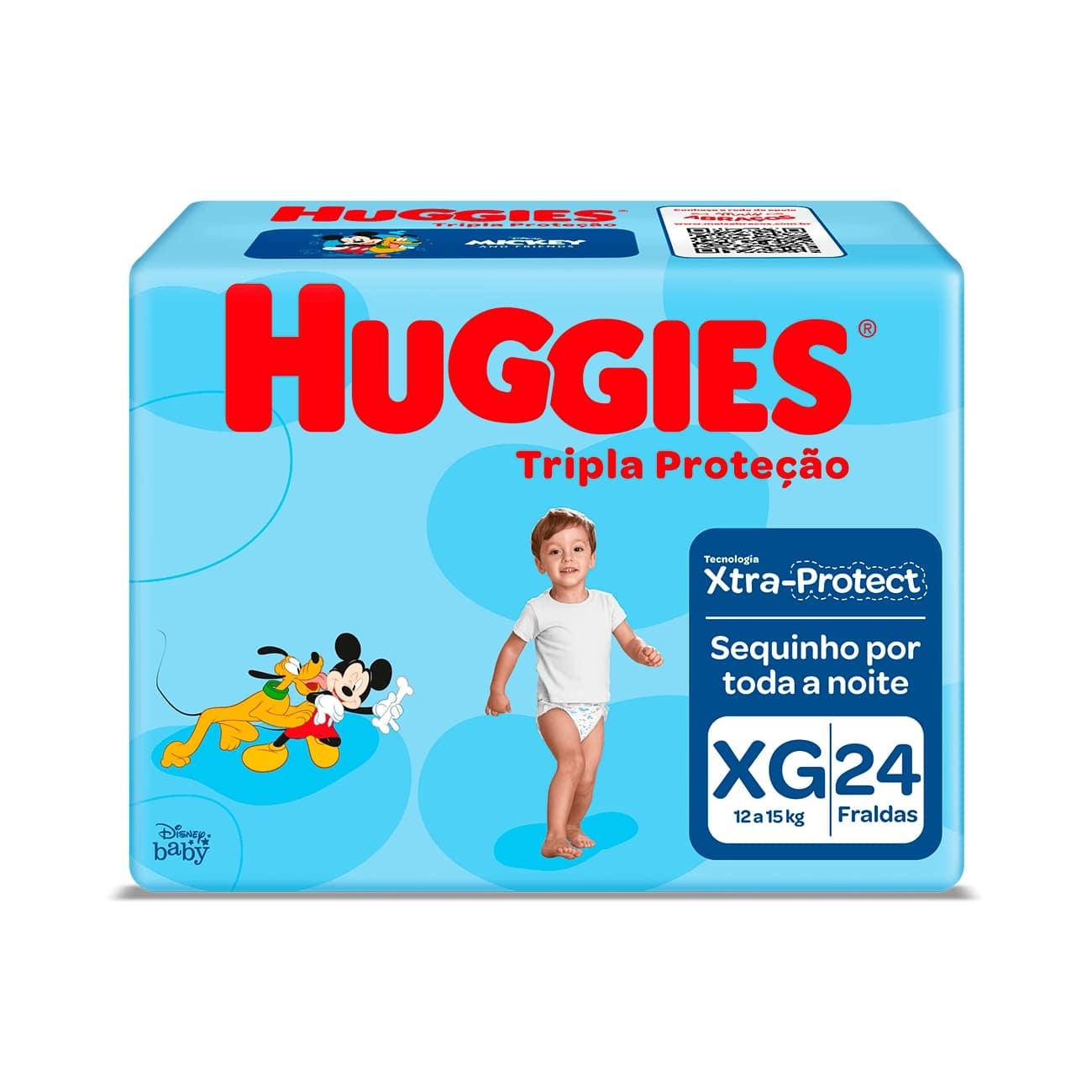 Fralda Huggies Tripla Proteção Jumbo XG 24un