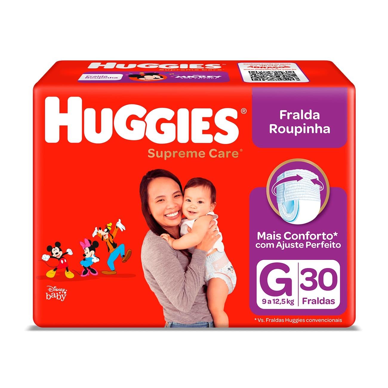 Fralda Huggies Supreme Roupinha Mega G 30un
