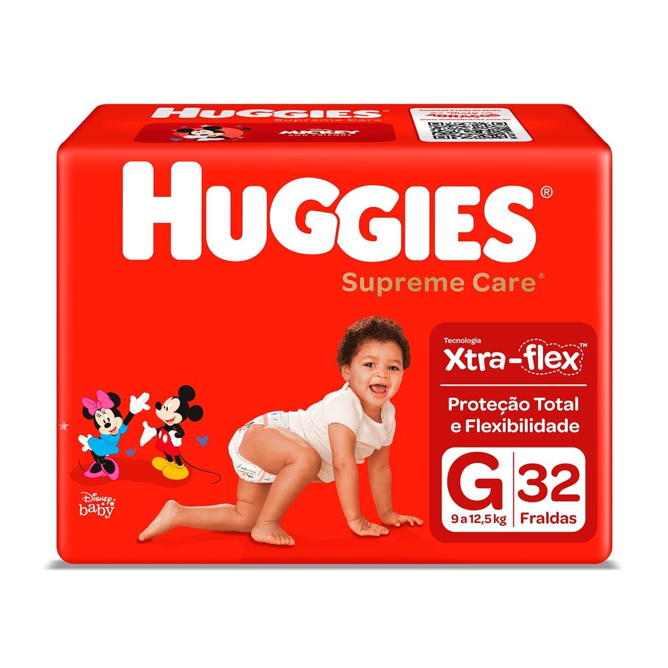 Fralda Huggies Supreme Care Mega G 32un