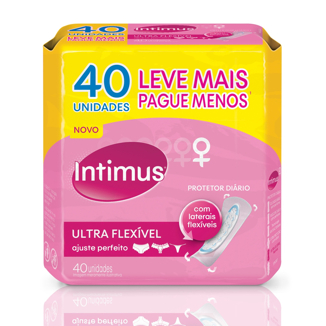 Protetor Diário Intimus Flexível s/ Abas 40un