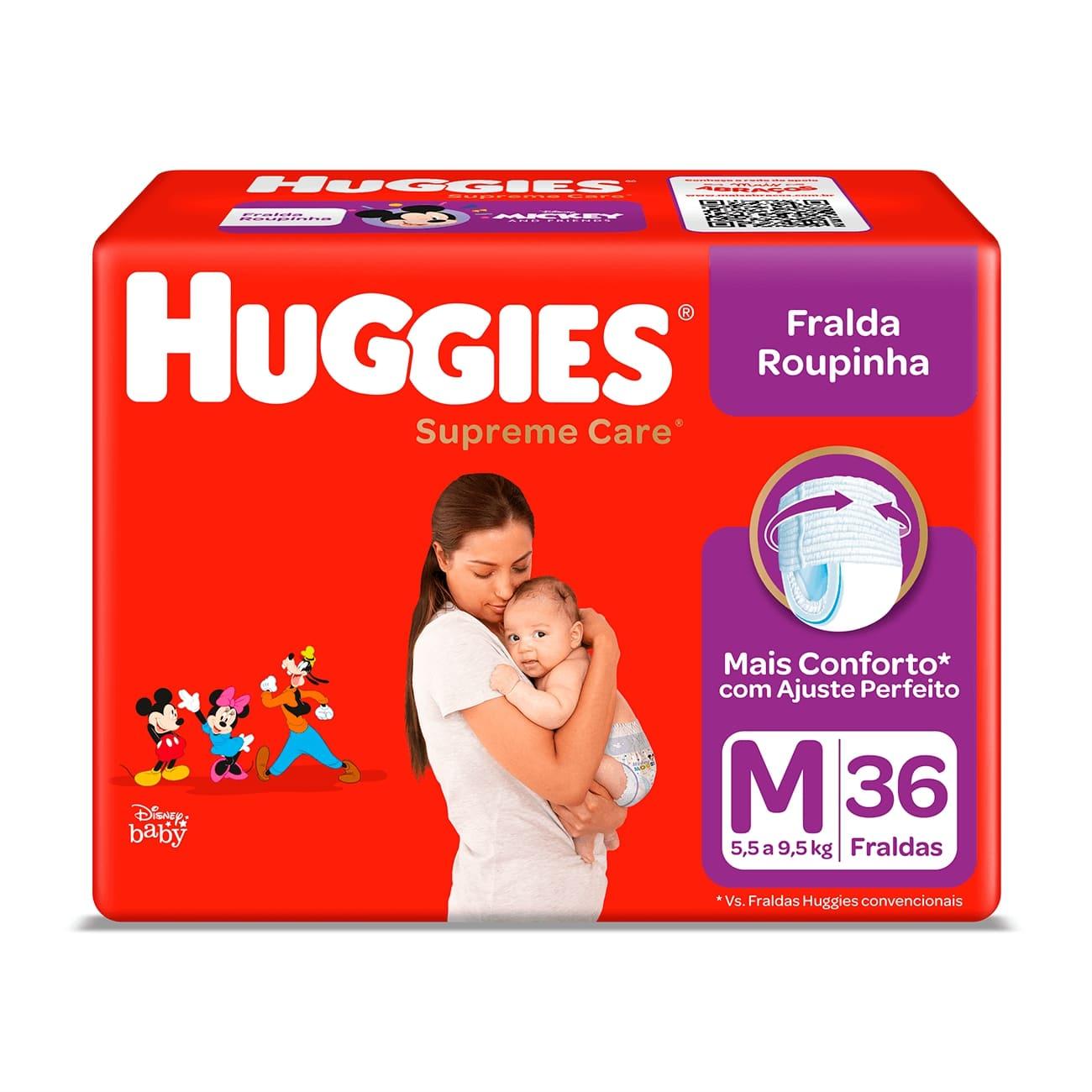 Fralda Huggies Supreme Roupinha Mega M 36un