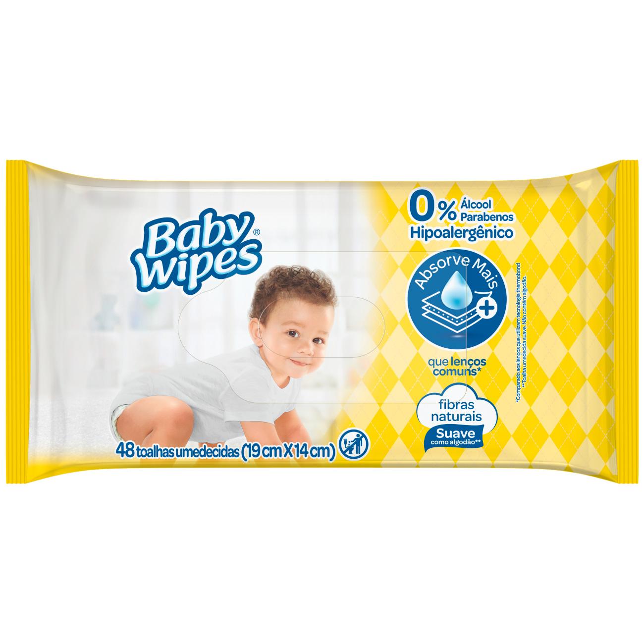 Lenços Umedecidos Baby Wipes Lavanda 48un