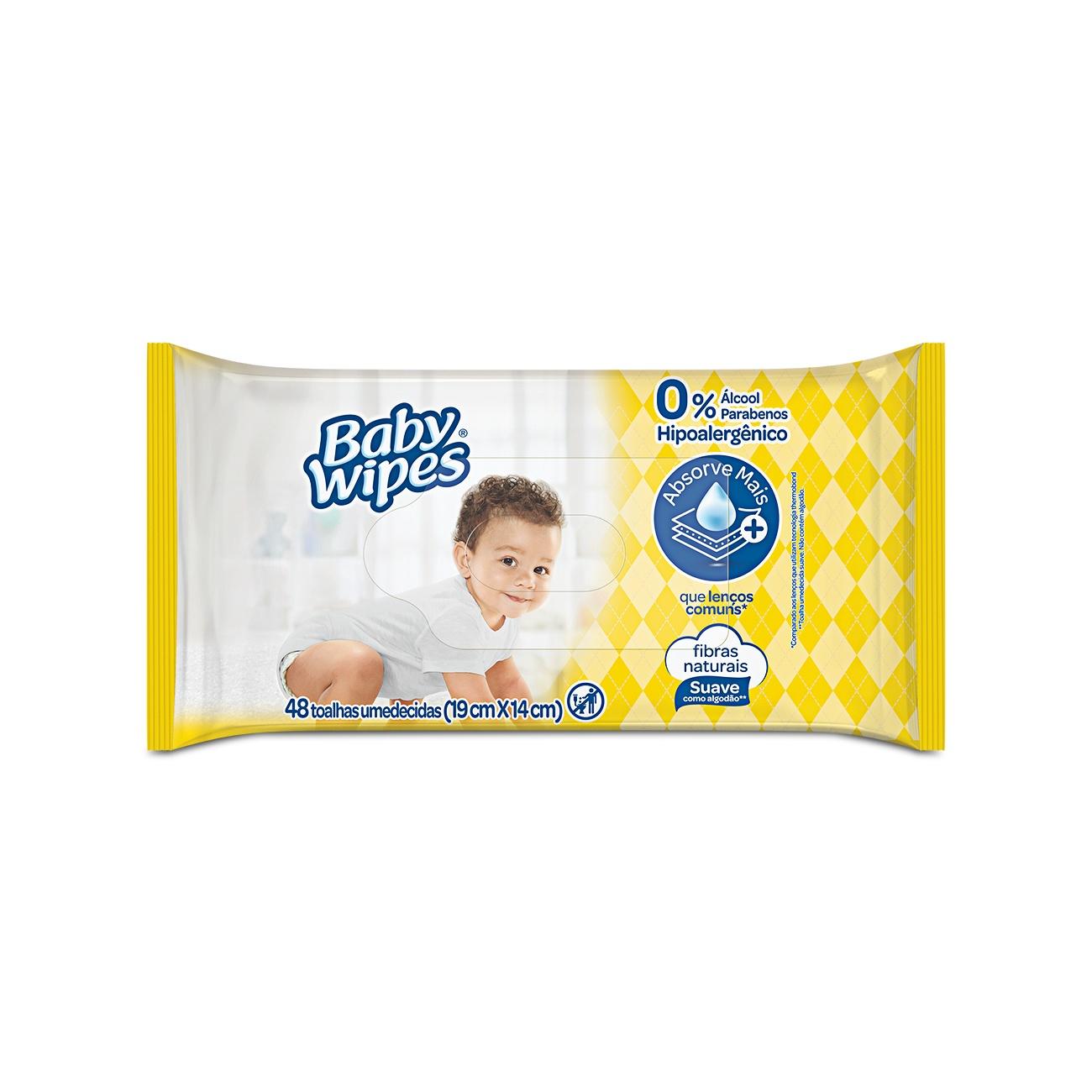 Lenços Umedecidos Baby Wipes 48un