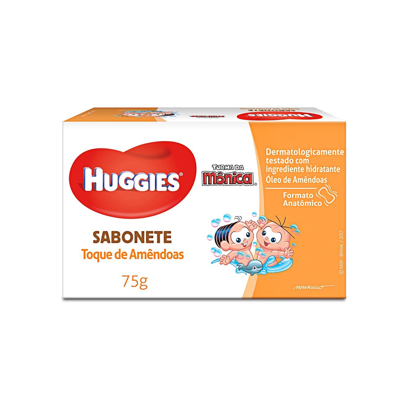 Sabonete Barra Infantil Huggies Amêndoas 75g